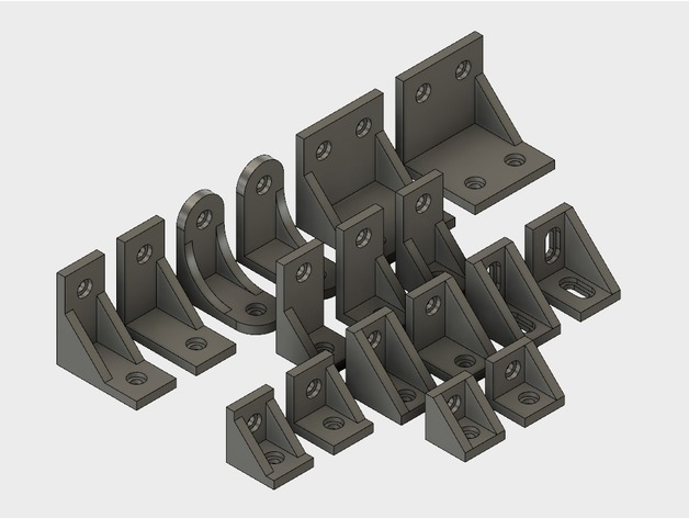 An assortment of corner brackets.