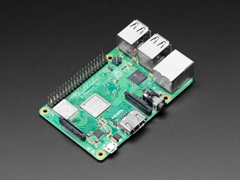 The Raspberry Pi 3B+.