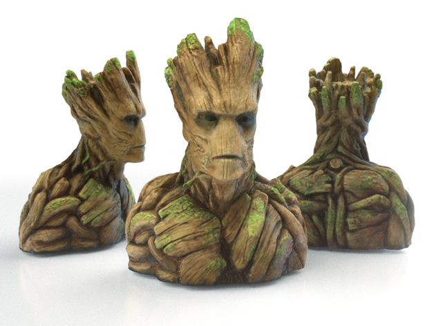 Groot Bust's best angles!