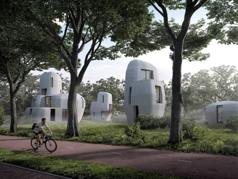 Concept 3D printed houses by Eindhoven University of Technology.