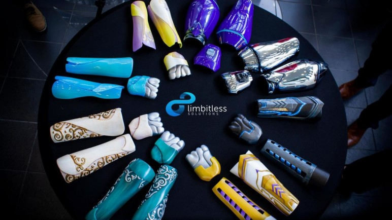 Limbitless solutions' 3D printed arms are based on video game classes.