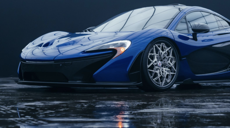 HRE3D+ 3D printed wheel fitted to a McLaren P1 hypercar