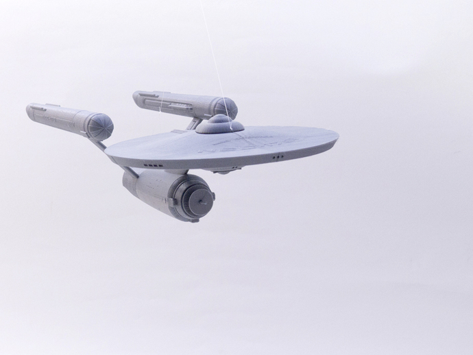 The starship Enterprise is a typical model printed with low strength infill.