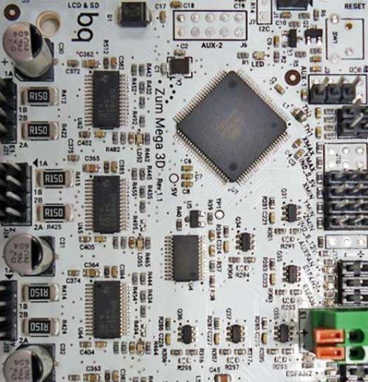 A controller board.