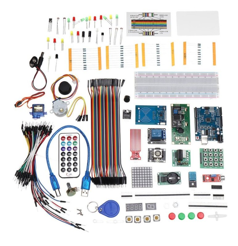 Image of Best Arduino Stepper Motors: Ultimate UNOR3 Starter with Stepper Servo Motor Relay RTC Kits For Arduino