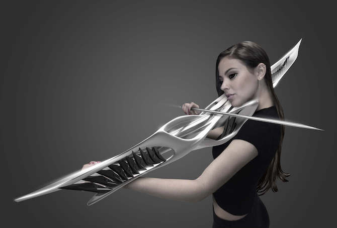 The goal of this strange looking instrument is to create a unique sound.