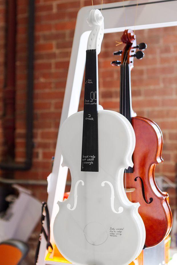 Formlabs' acoustic 3D printed violin.