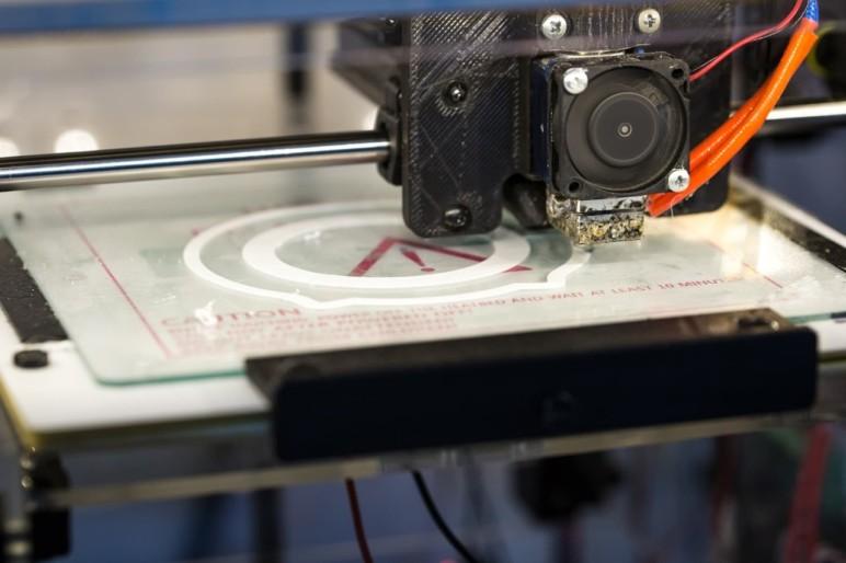 An FDM 3D printer at work.