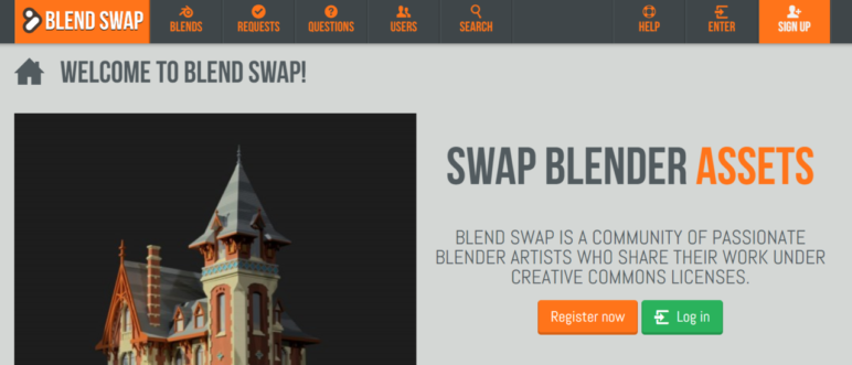 Most of Blendswap's models are free, but some ask for a payment to download them.