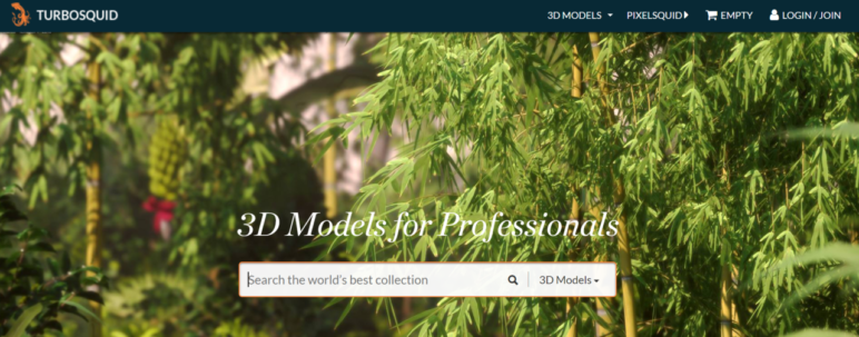 Turbosquid's paid models vary in price and range between €1 to over €3,000.
