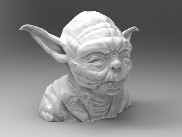 This bust of Yoda shows him off in exquisite detail.