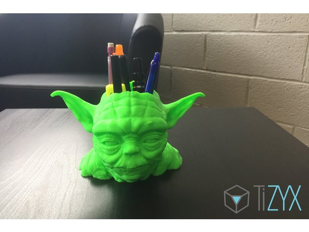 A Yoda pen holder to protect your office supplies.