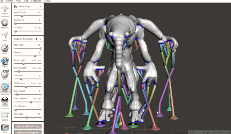 Meshmixer is like Adobe Photoshop for 3D models.