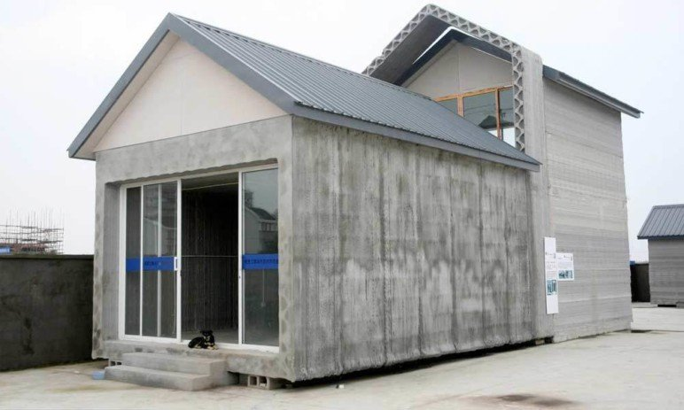 WinSun was able to print 10 houses like this in a single day