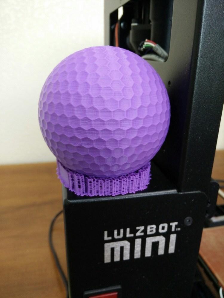 A (huge) 3D printed golf ball.