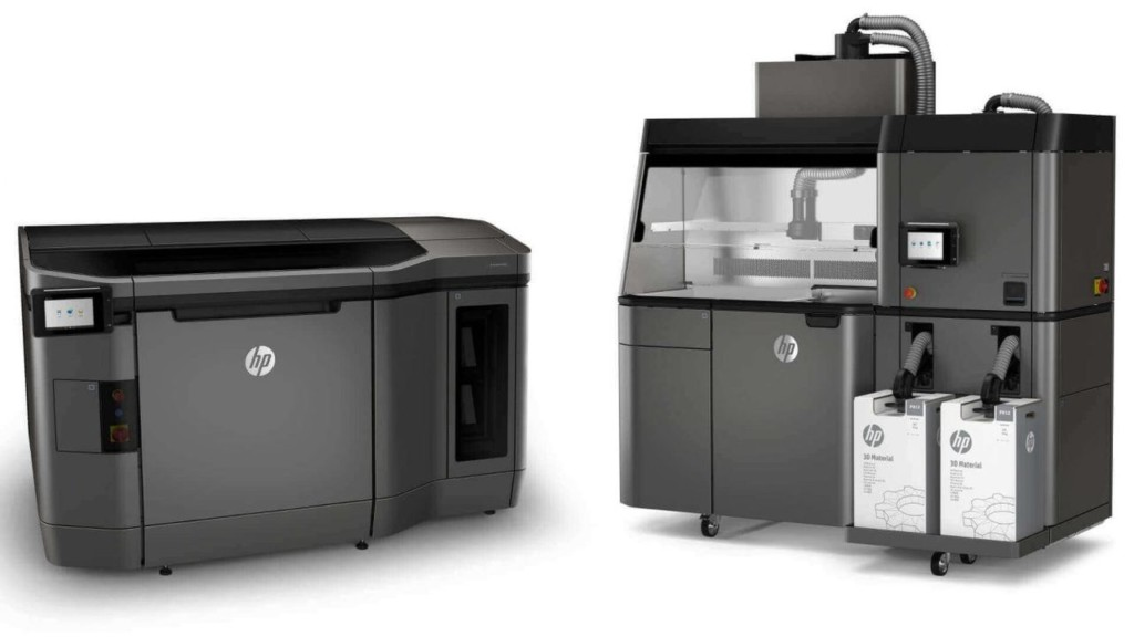 The HP Metal Jet Fusion 3D printing production system