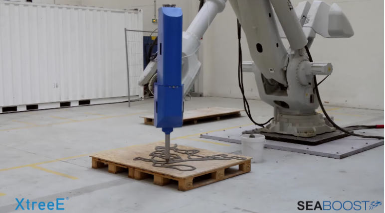 A massive concrete printer recreates the abstract shapes of reefs
