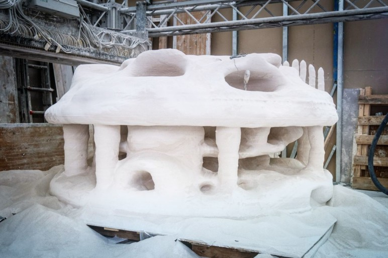 Boskalis' dolomite sand reef printed on a D-shape 3D printer