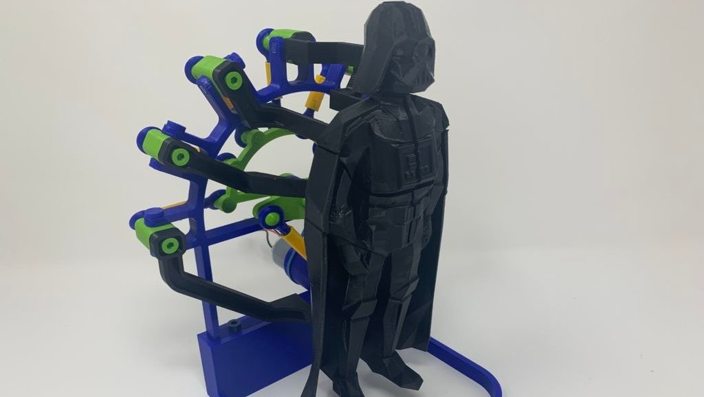 Featured image of Weekend Project: Use the Force to 3D Print a Darth Vader Automata