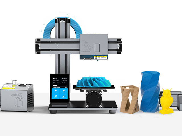 Capable printers like this Snapmaker are becoming more accessible.