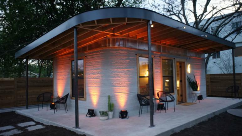 A 3D printed house.