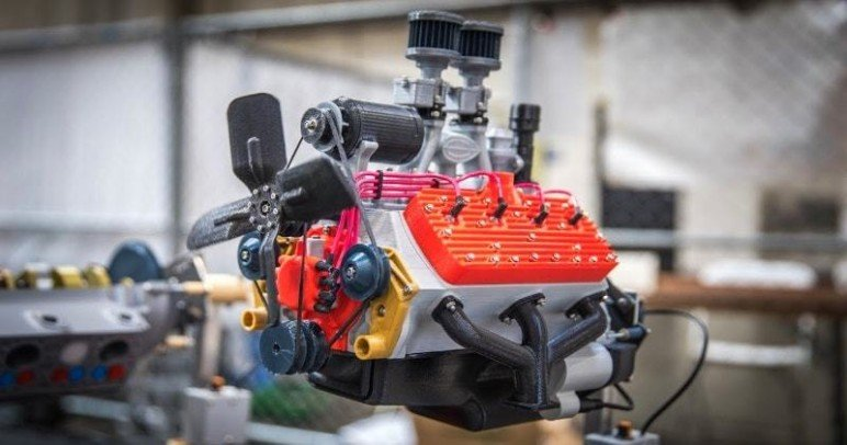 A functional, almost-entirely 3D printed engine model. Possible, but only with the right talent...
