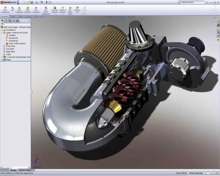 SolidWorks interface.