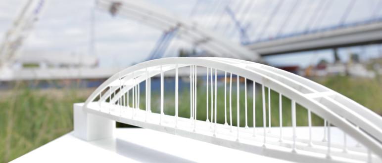 3D printed bridge prototype.