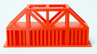 Bridge successfully printed with supports.