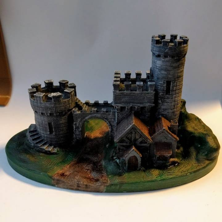 A 3D printed castle gate that is an impressive print!