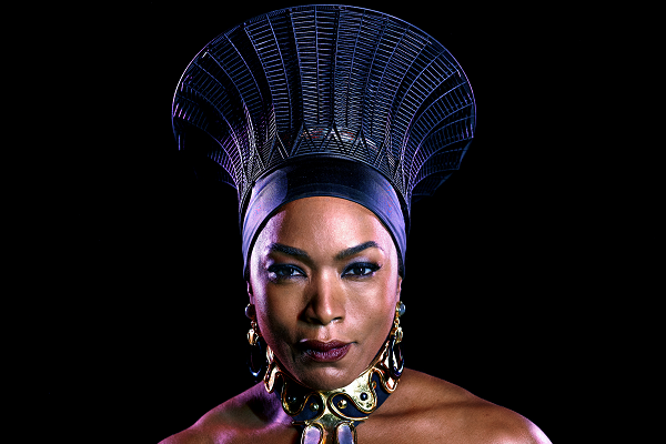 Crowning achievement - Angela Bassett wearing 3d Printed Headpiece from Black Panther.
