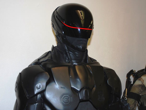 RoboCop 3D Printed Suit including clear red visor piece.