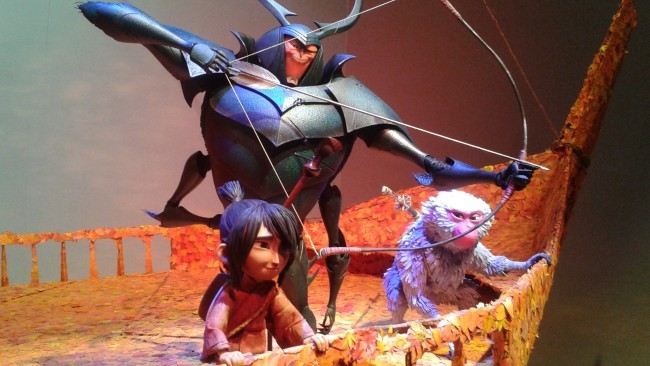 The characters Beetle, Kubo and Monkey from Kubo and the Two Strings.