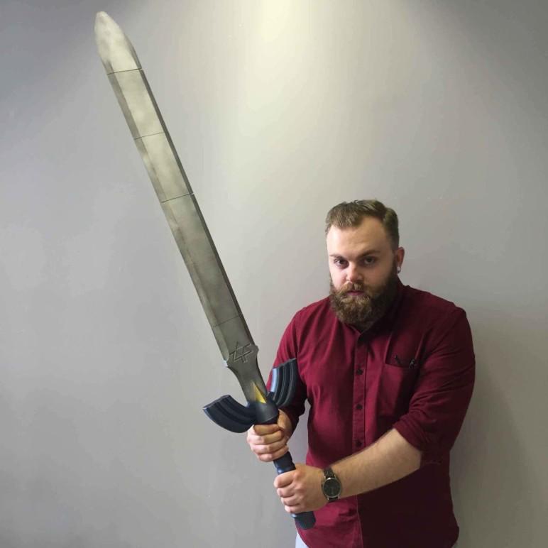 Massive 3D printed sword.