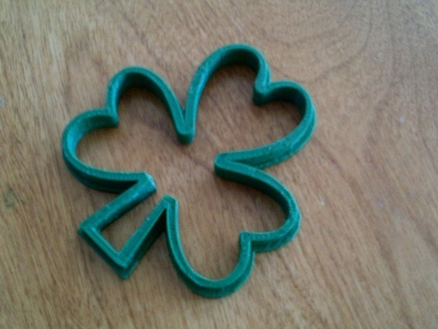 Image of Weekend Project: 10 Festive 3D Prints for Saint Patrick's Day: Shamrock Cookie Cutter