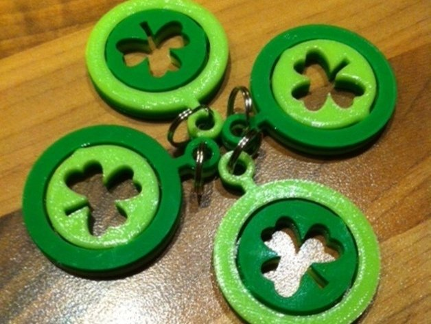 Image of Weekend Project: 10 Festive 3D Prints for Saint Patrick's Day: Shamrock Keyring