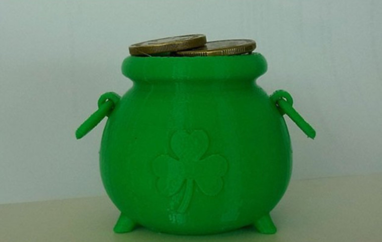 Image of Weekend Project: 10 Festive 3D Prints for Saint Patrick's Day: Pot of Gold