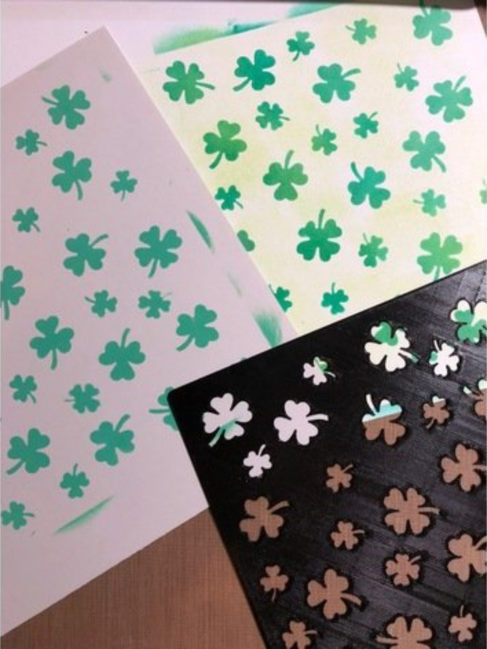 Image of Weekend Project: 10 Festive 3D Prints for Saint Patrick's Day: Shamrock Stencil