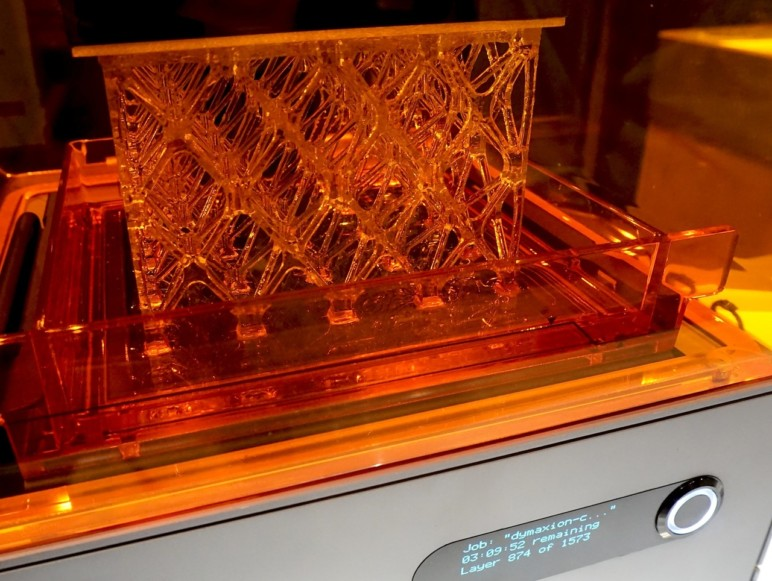The Formlabs Form 1+ in action.