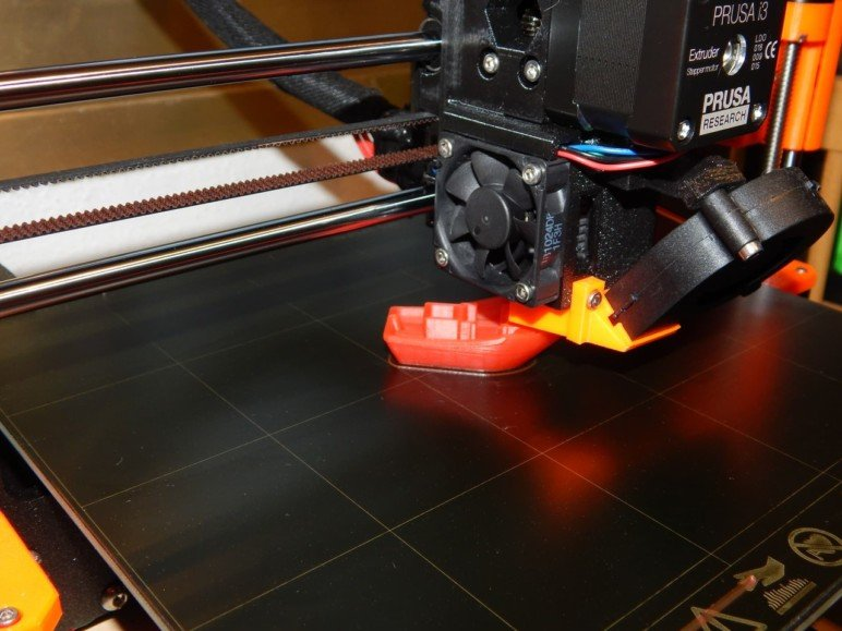 The Benchy on the printer.