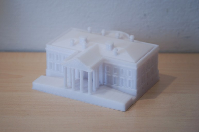 Thingiverse model of The White House printed on 45 mm/s on the i3 Mega.