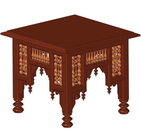A Rhino3D model of an Egyptian Mashrabiya coffee table.