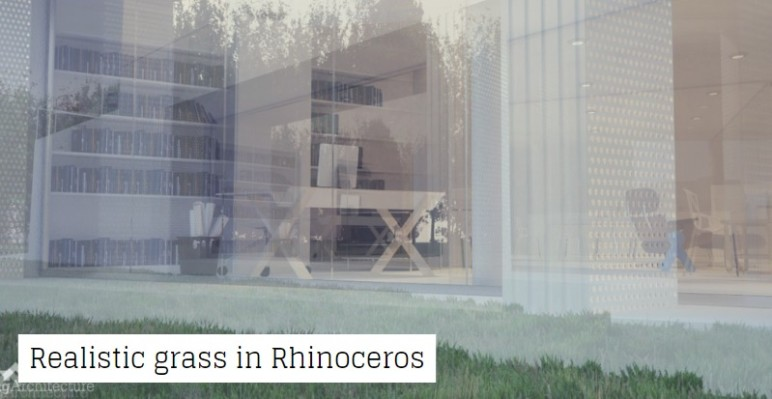 Exterior modeling example in Rhino3D.