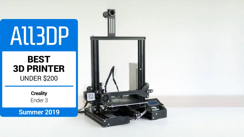 graphic relating to Ender 3 Printable Upgrades called 2019 Creality Ender 3 Examine Excellent 3D Printer Below $200