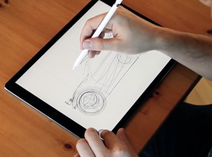 Drawing in uMake for iOS.