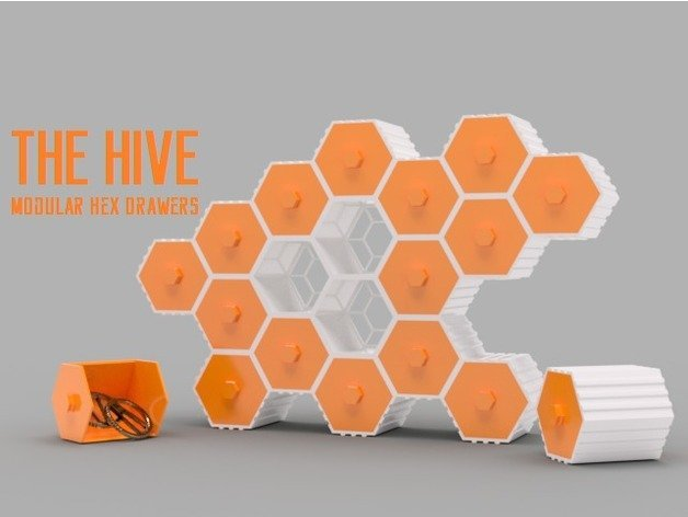 Artwork with utility, Hive hex containers storage system.
