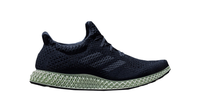 Adidas Futurecraft 4D shoe with a 3D printed mid-sole.