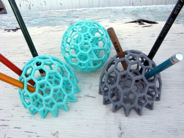 Who knew buckyballs could be such great pencil holders?