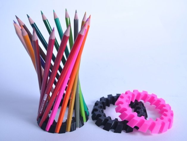 This model puts a twist on pencil holders.