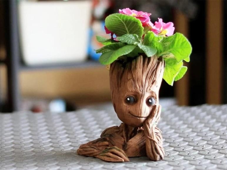 A Groot-themed flower pot!
